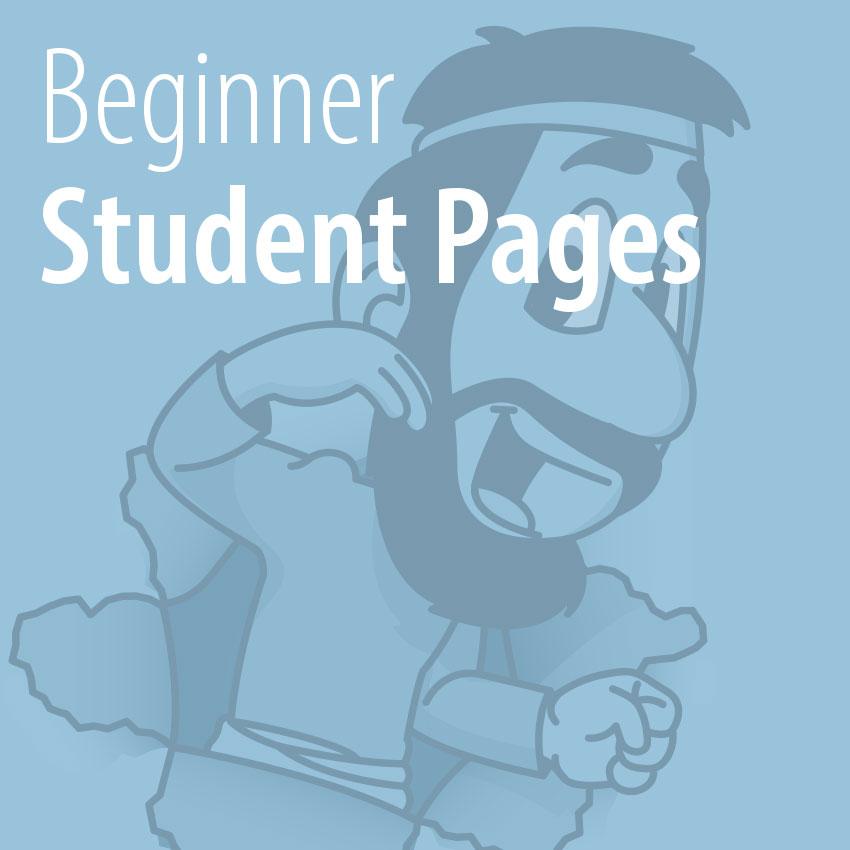 Beginner Student Pages tile