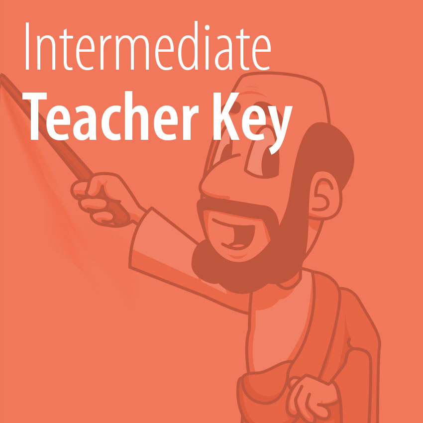 Intermediate Teacher Key tile